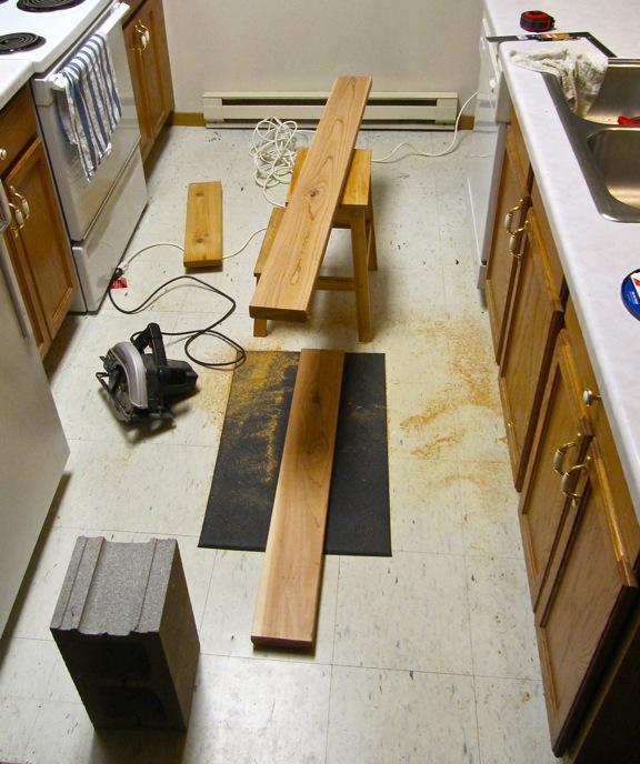 indoor wooden plant rack for kitchen