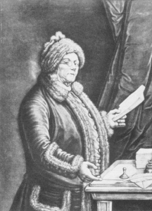 A famous mezzotint of Franklin by Johann Will after a painting by Cochin.