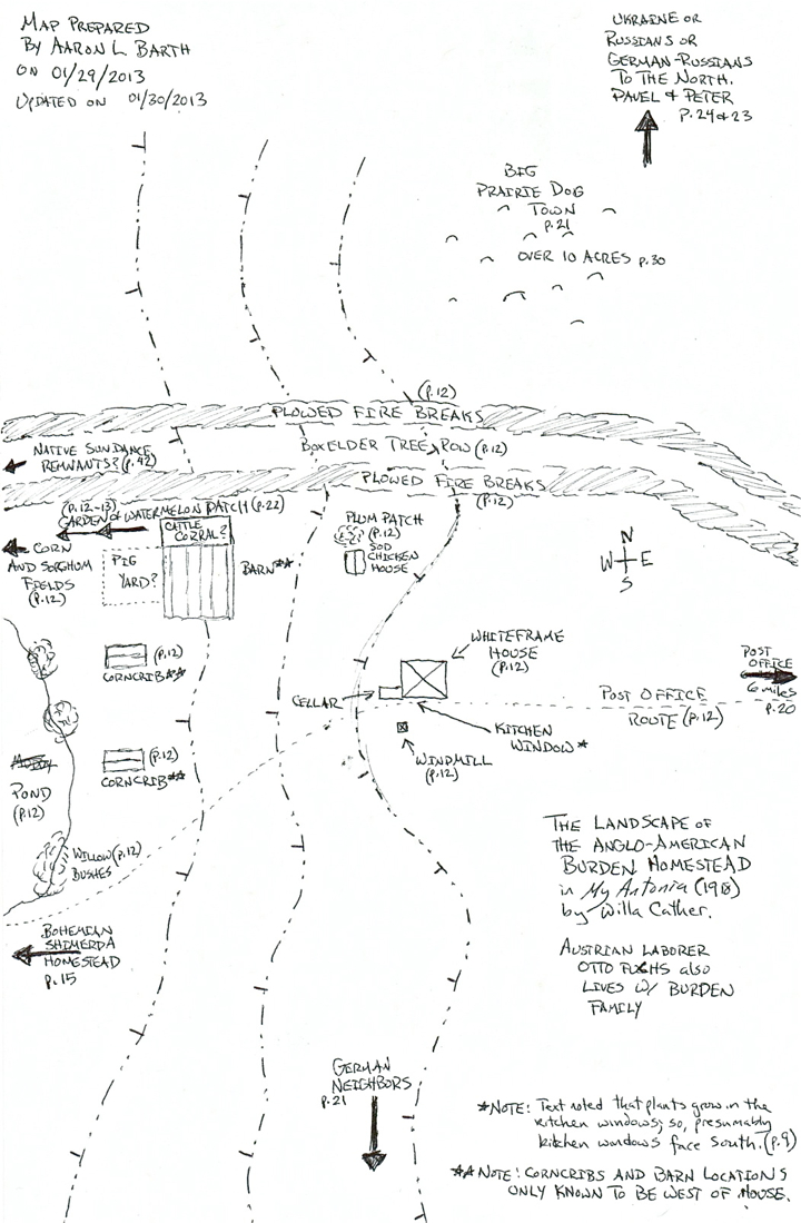 February The Edge Of The Village Page - Willa cather us map