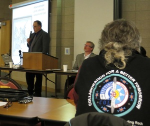 The US-Dakota Wars panel discussion at Sitting Bull College on March 22, 2013.
