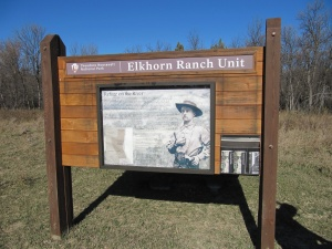 Signage at Roosevelt's Elkhorn Ranch. Photo from September 2012.