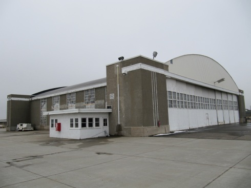 The Art Deco Hangar built by the WPA/CCC in the 1930s at the Bismarck Airport.