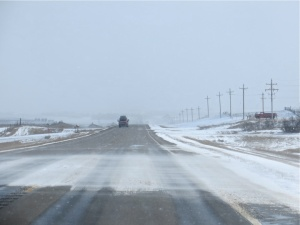 North Dakota Highway 85 on March 23, 2013.