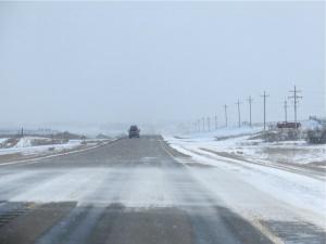 North Dakota Highway 85 on March 23, 2013.