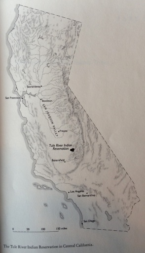 The Tule River Tribe location in California.