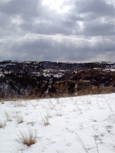 Some badlands beauty, on the abrupt cusp of the winter to spring transition.