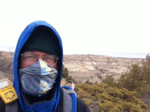 Andrew Reinhard (Princeton, New Jersey) gladly suffers for science in the Badlands of western North Dakota. He's pretty much a punk archaeological editor without borders. Photo by and for Reinhard.