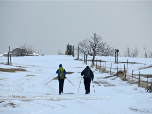 Reinhard and Rothaus set out on the first day of Adventure Science's fieldwork in western North Dakota.