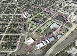 The research boundaries for a micro-history of a neighborhood in Grand Forks, North Dakota.