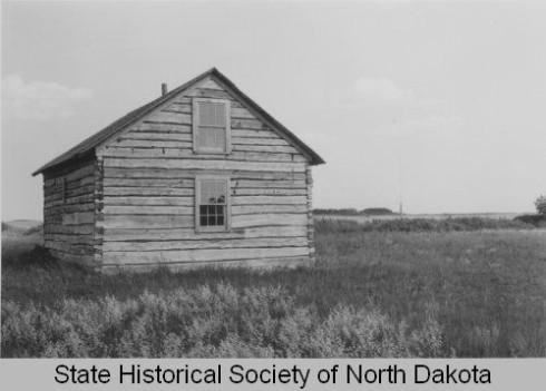 A photo of the Slattum cabin in the 1950s.