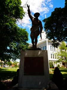 The WWI statue outside of the Missoula County Courthouse. Photo from 07/13/2013.