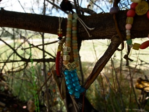 Some items of remembrance at the Bear River Massacre site. Photo from July 15, 2013.