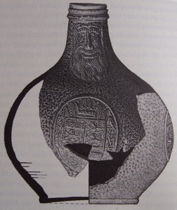 German-produced Bartmann wine bottle from the British settlement site of Jamestown, Virginia. (Smith, 2008: 12)
