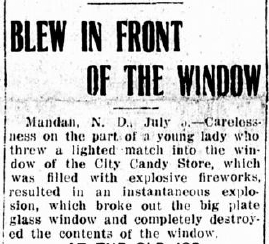 A Bismarck Daily Tribune story from July 6, 1913.