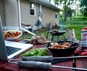 A contemporary archaeological domestic assemblage from the evening of July 6, 2013, Valley City, North Dakota.