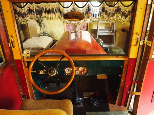 The cockpit of the sweet circus ride.