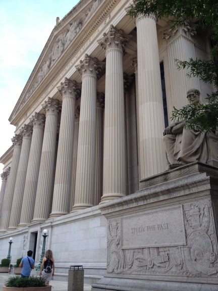 East elevation of the National Archives.