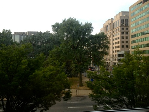A view of Franklin Square in Washington, DC, from August 21, 2013.