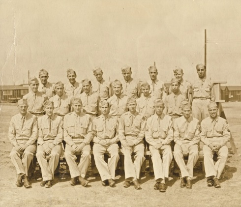 409th Medical Detachment, Barth is front row, second from the left.
