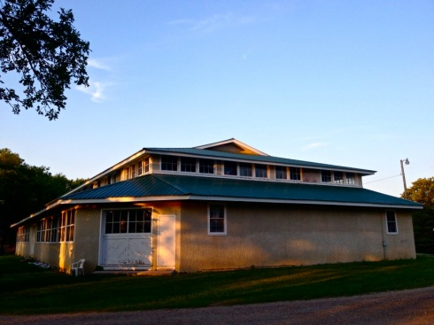 An exterior shot of the pavilion from the last week of July 2013, Stump Lake, North Dakota.