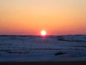 The April 22, 2013 sunset in western North Dakota. Taken on Highway 85, just north of Grassy Butte.