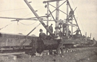 Railroad workers in 1910, this one mile west of Regent, North Dakota.