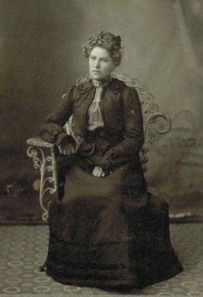 Albertina (Mattson) Larson. She eventually took up a farmstead with Hans T. Larson in northeastern Wells County, North Dakota.