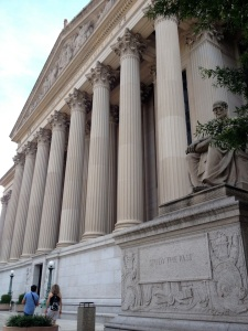 "A photo I snapped while in D.C. in August 2013. It is of the National Archives. The inscription at bottom-right of the photo reads, ""Study the Past."""