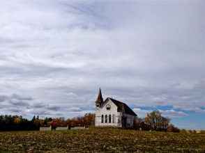 An abandoned prairie church near Enderlin, North Dakota.