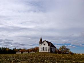 An abandoned prairie church near Enderlin, North Dakota.