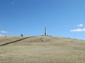 The granite bugler at Whitestone Hill in southeastern North Dakota.