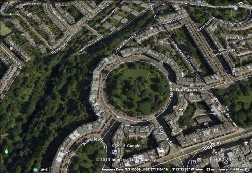 Moray Place in Edinburgh, Scotland.