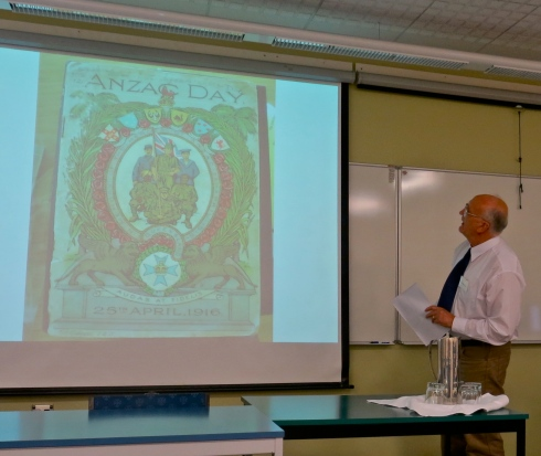 George Davis explains the symbolism of the memorial wreath of ANZAC day.