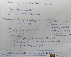 My notes from the Henry Yu talk.