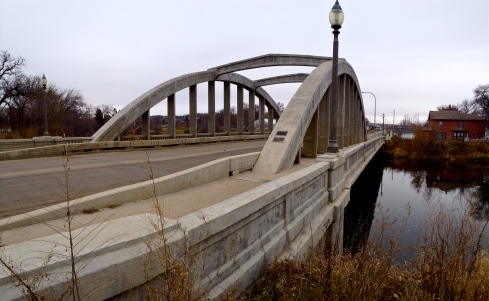 A November 14, 2013 photo of the Rainbow Bridge in Valley City, North Dakota.