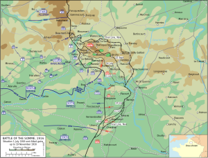 The Battle of the Somme map from Wikipedia commons.