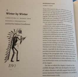 "Chapter 4 of ""The Year the Stars Fell: Lakota Winter Counts at the Smithsonian"" (2007)."