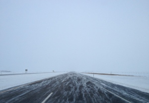 A view this morning of I-29 between Fargo and Grand Forks.