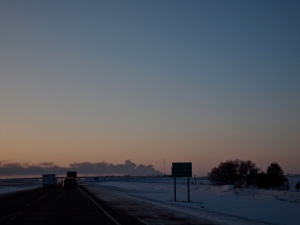 At mile marker 340 on I-94 looking west.