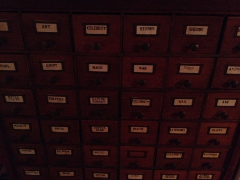 One of Barton's filing systems.