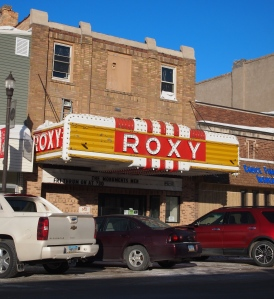 The Roxy Movie Theater in Langdon, North Dakota. Photo from February 2014.