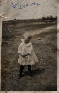 Vivian in the late-1910s on the Swedish-American farmstead just northeast of Bremen, Wells County, North Dakota.