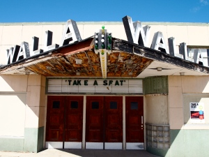 The historic 1949 Walla Walla Theater in Walhalla, North Dakota. It was placed on the National Register of Historic Places in 2010, and the regional arts community is crowd-sourcing funds for its 21st century rehabilitation.